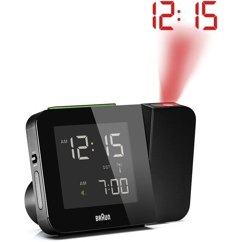 Braun Projection Clock | Black BNC015BK-RC