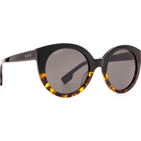 DIFF Eyewear Emmy Sunglasses | Black Tortoise Gradient + Brown Gradient Lens