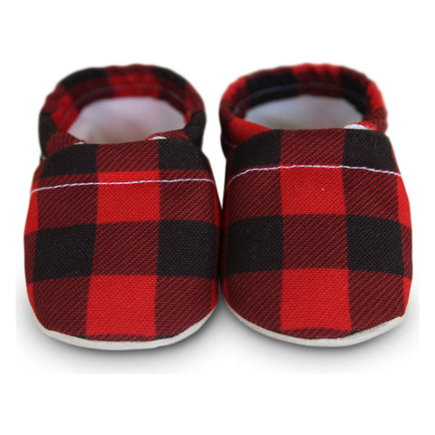 Clamfeet Bradly Baby Moccasins | Red/Black