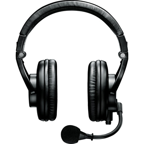 Shure BRH440M Dual-Sided Broadcast Headset (Less Cable) | Black