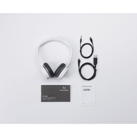 Phiaton BT 390 Wireless Over-Ear Headphones | White BT390WHITE