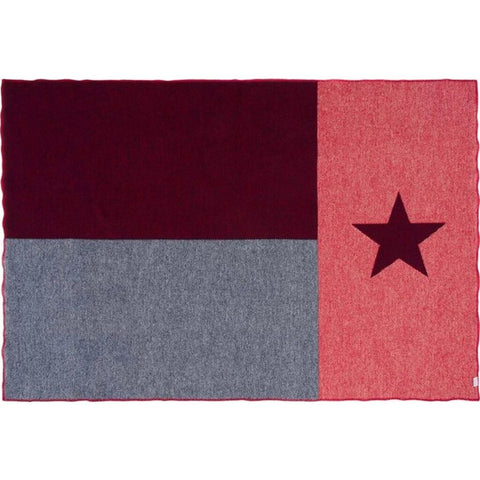 Faribault Texas Flag Throw | Wool