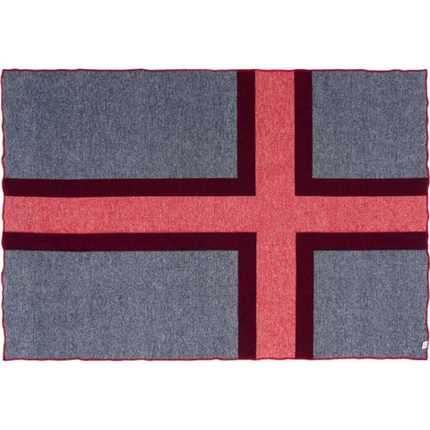 Faribault Norwegian Flag Throw | Wool