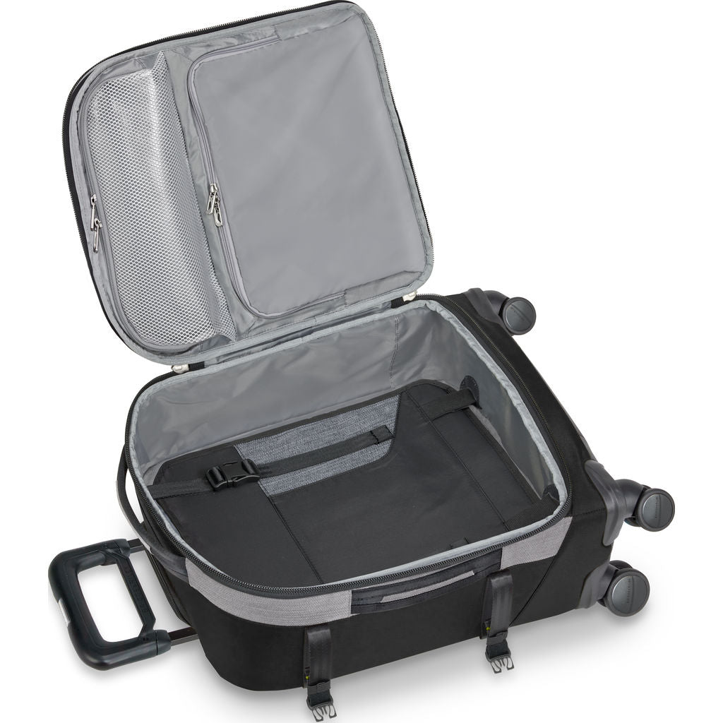 Briggs & Riley Explore Domestic Expandable Spinner Suitcase  | Black- BU222SPX