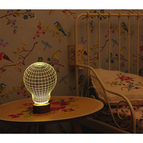 Studio Cheha Bulbing LED Table Lamp | Birch/Acrylic