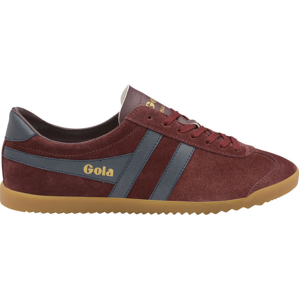 Mens Bullet Suede Burgundy/Navy/Gum Trainers Gola DQWZg0