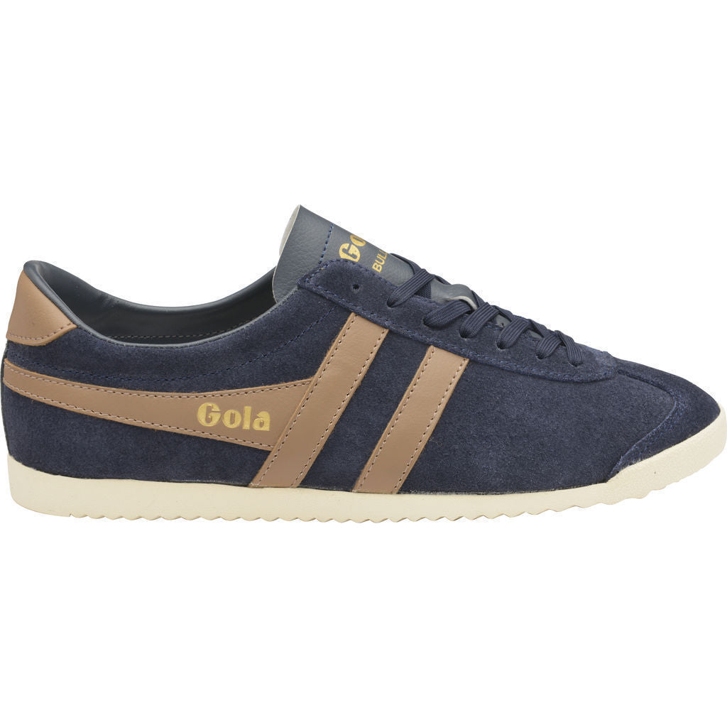Gola Men's Bullet Suede Sneakers | Navy/Tobacco