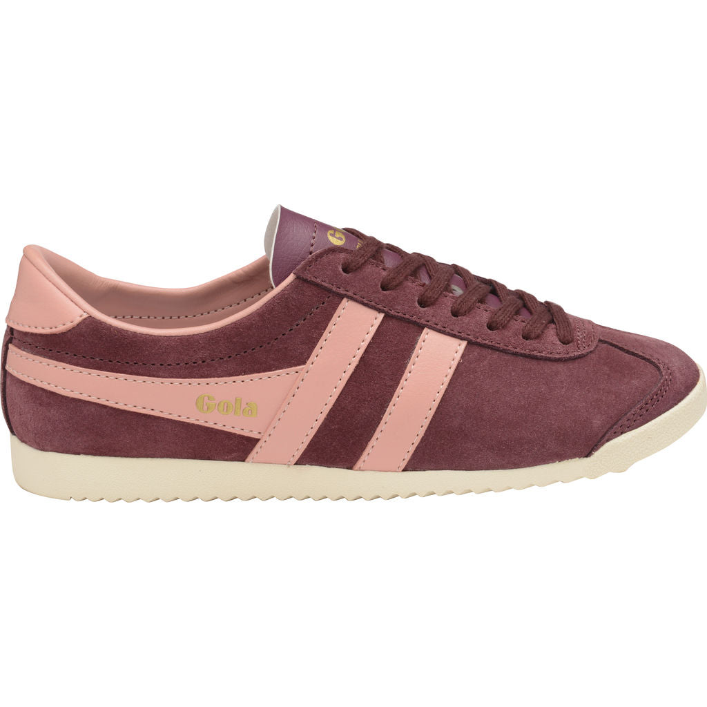 Gola Women s Bullet Suede Sneakers Windsor Wine Coral - Sportique a5bf38677