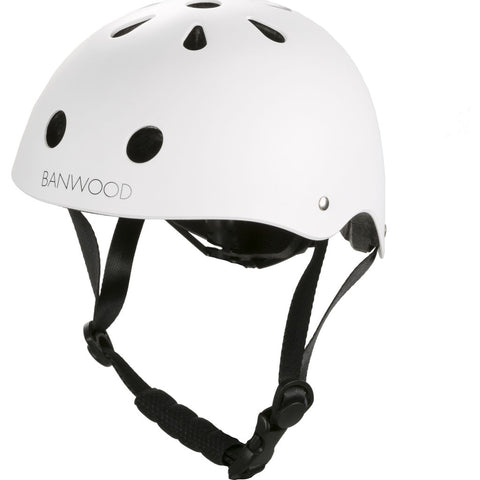 Banwood Kid's Helmet | Matte White- Bw-Helmet-White