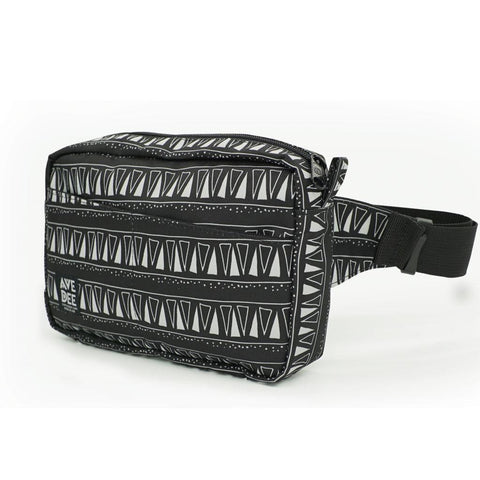 Avenue Dee B+W Tri Travel Hip Pack | Black/White