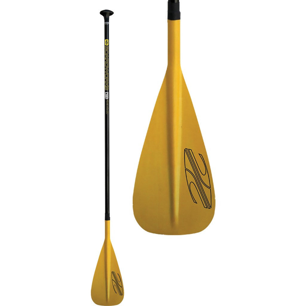 Boardworks Fiberglass FGR 2-Piece Adjustable Paddle | Yellow