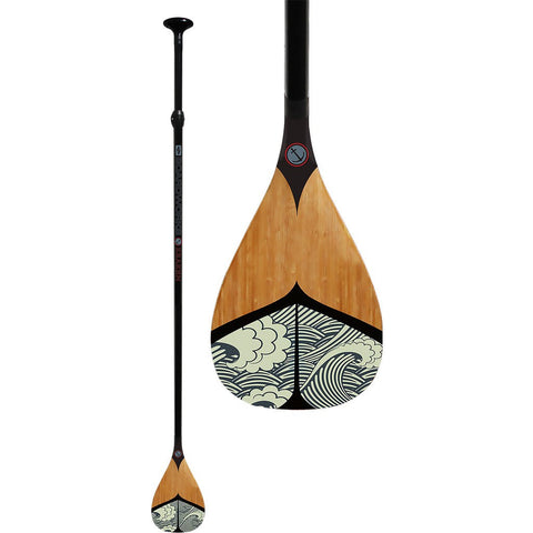 Boardworks Kraken 2-Piece Adjustable Paddle | Wood/Black