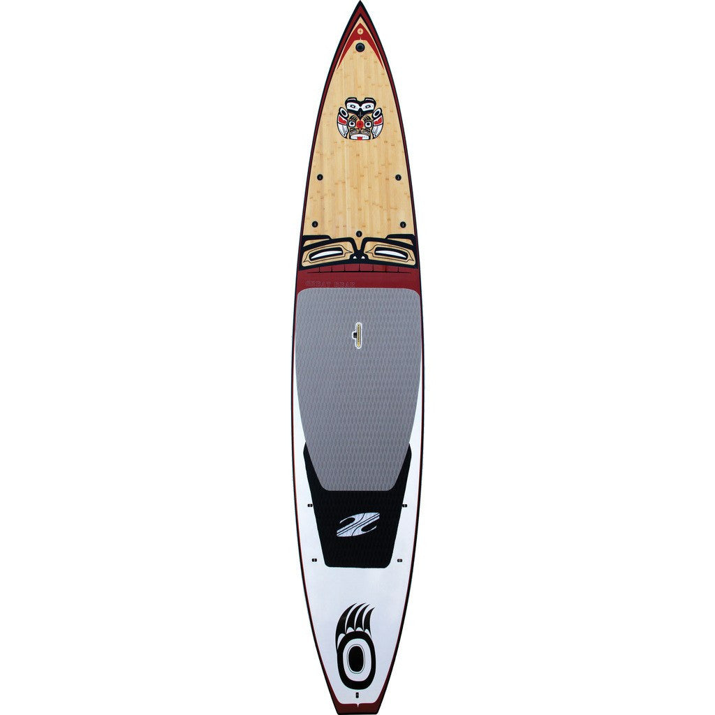Boardworks Great Bear Stand-Up Paddle Board | Wood/Red