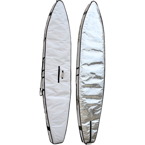 Boardworks Stand-Up Paddle Board Race Bag 14' | Gray/White