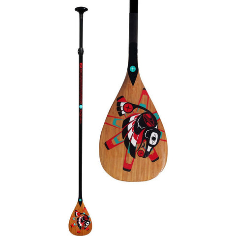 Boardworks Raven 2-Piece Wood/Paddle | Wood/Black