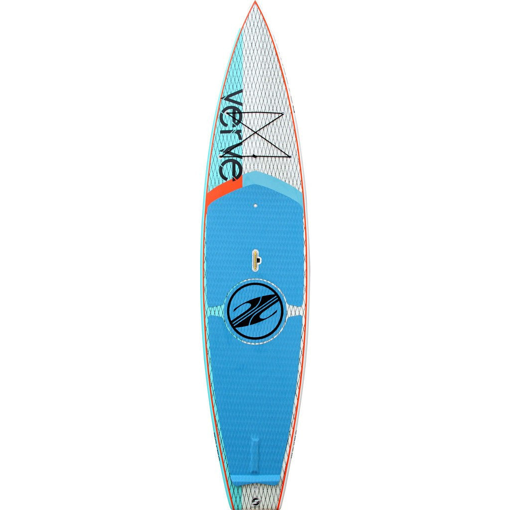 Boardworks Verve 11' Surf Board | White/Blue/Org