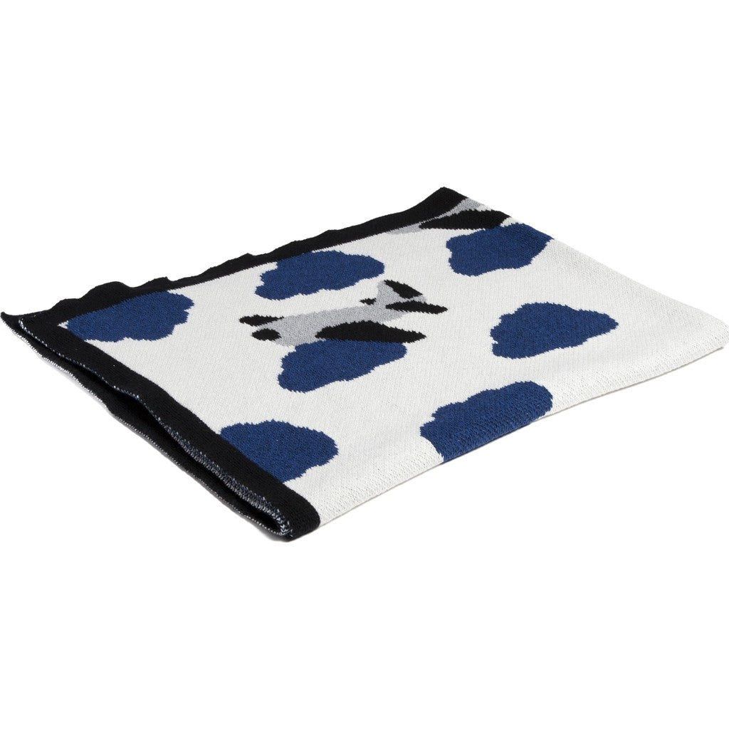 in2green Baby Airplane Eco Throw | Milk/Cobalt/Aluminum BB02PL2