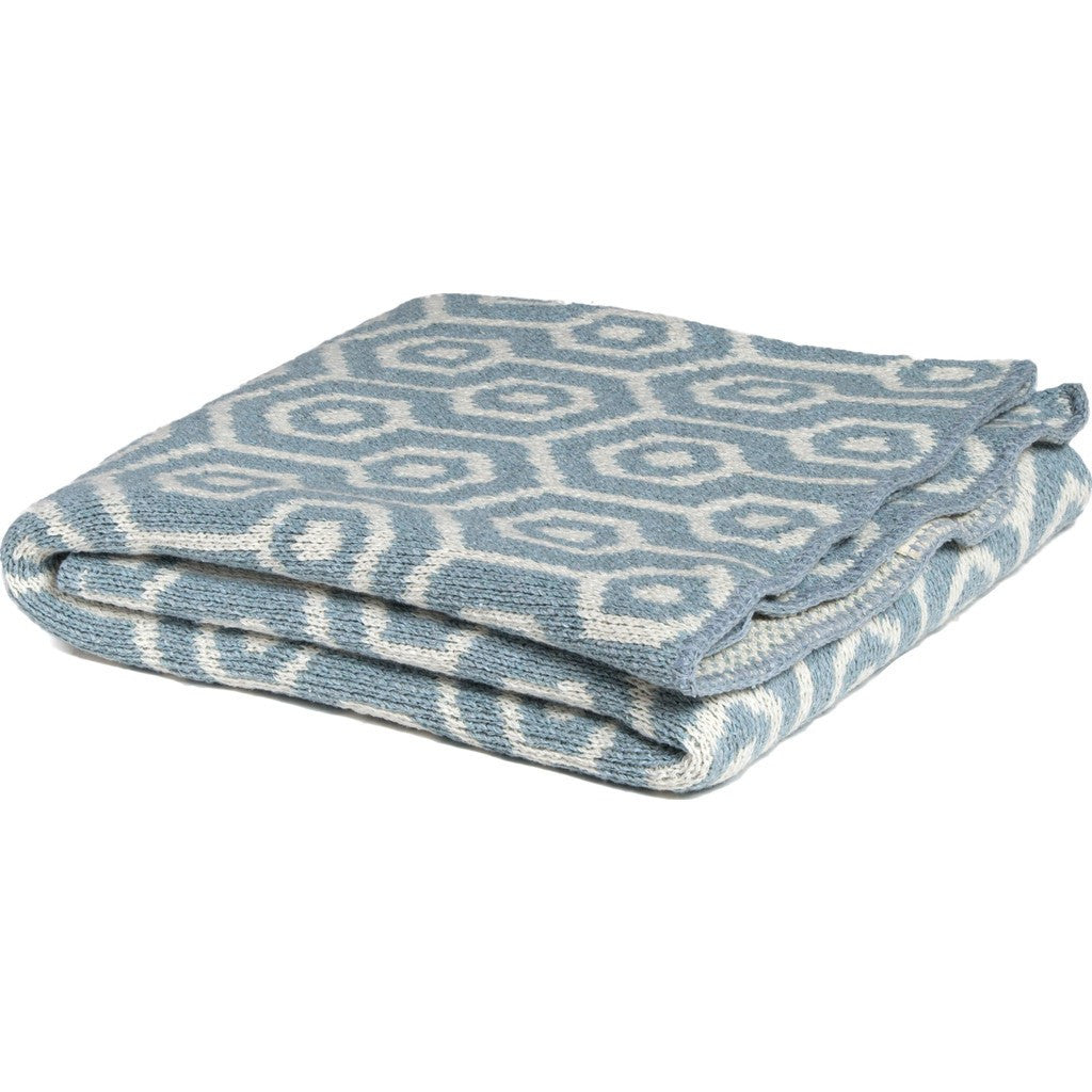 in2green Baby Geo Eco Throw | Blue Pond BB02GO1