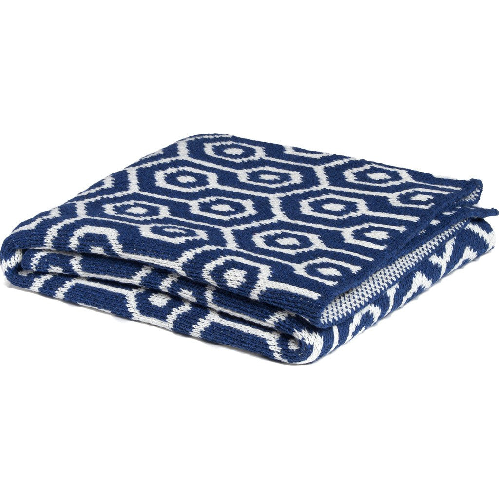in2green Baby Geo Eco Throw | Cobalt BB02GO3