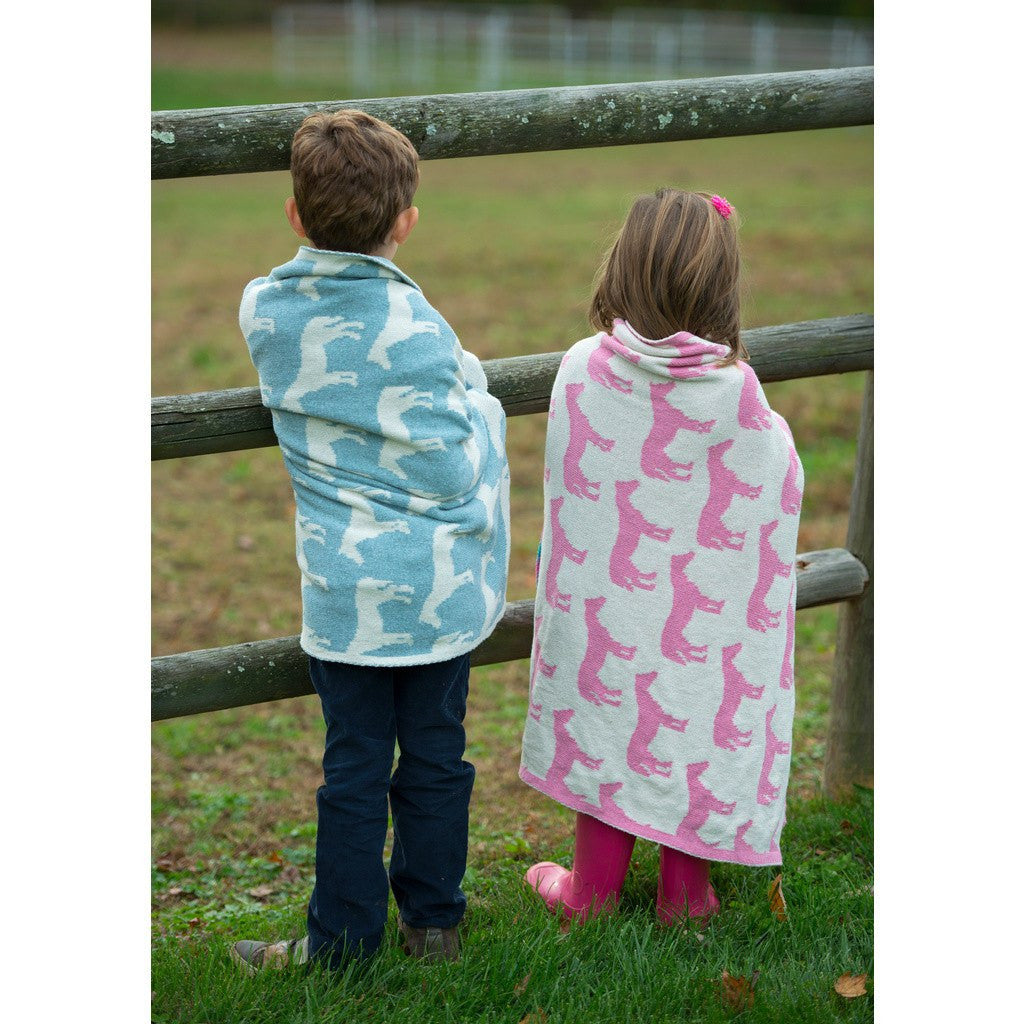 in2green Baby Pony Reversible Eco Throw | Petal Pink BB02PY1