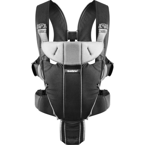 BABYBJORN Baby Carrier Miracle | Black/Silver 096065US