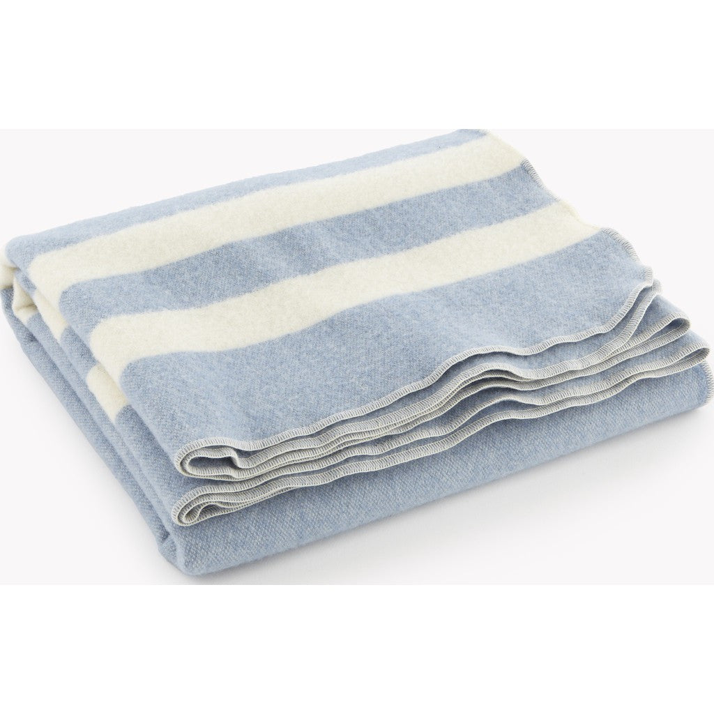 Faribault Baby Trapper Wool Blanket | Blue/Natural 8892 Baby 45x45
