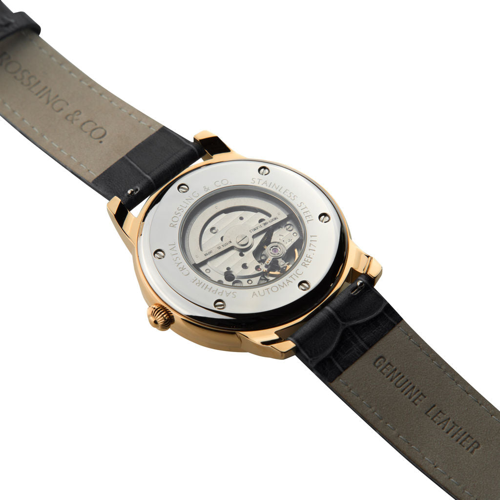 Rossling & Co. Strasse Automatic Watch |  Rose Gold/Black