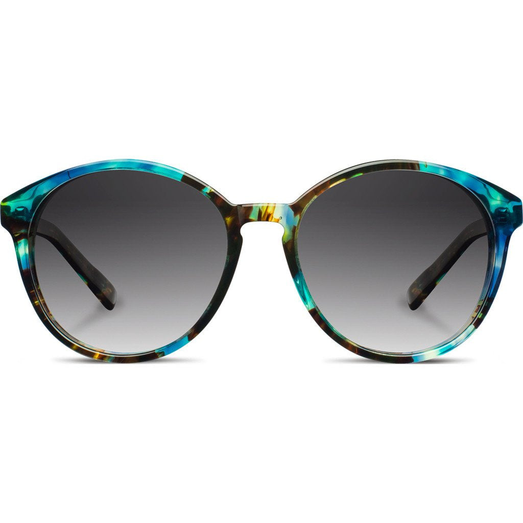 Shwood Bailey Acetate Sunglasses | Blue Opal & Ebony / Grey Fade Polarized WWAB2B2G2P