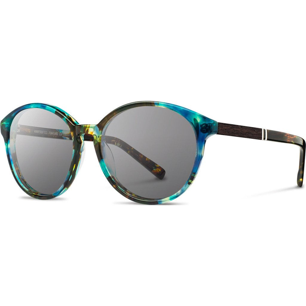 Shwood Bailey Acetate Sunglasses | Blue Opal & Ebony / Grey WWAB2B2G