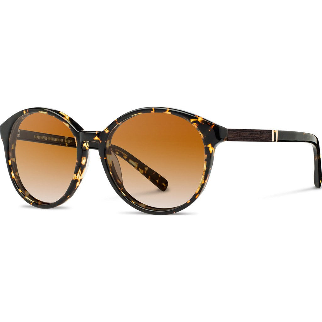 Shwood Bailey Acetate Sunglasses | Dark Speckle & Ebony / Brown Fade Polarized WWAB2DSB2P