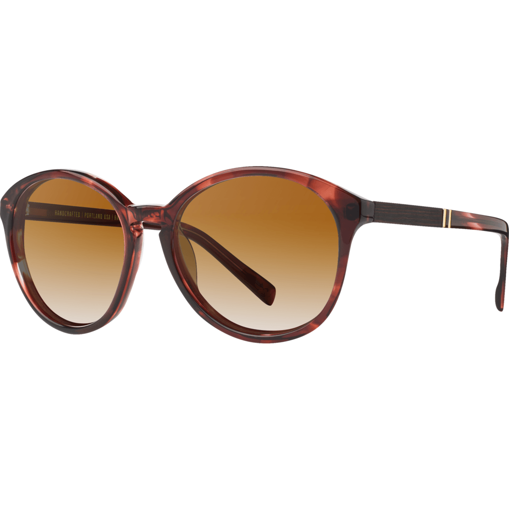 Shwood Bailey Acetate Sunglasses | Sangria & Ebony / Brown Fade WWAB2SEBB2