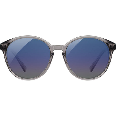 Shwood Bailey Acetate Sunglasses | Smoke/Ebony - Blue Flash Polarized WWAB2SEBB3P