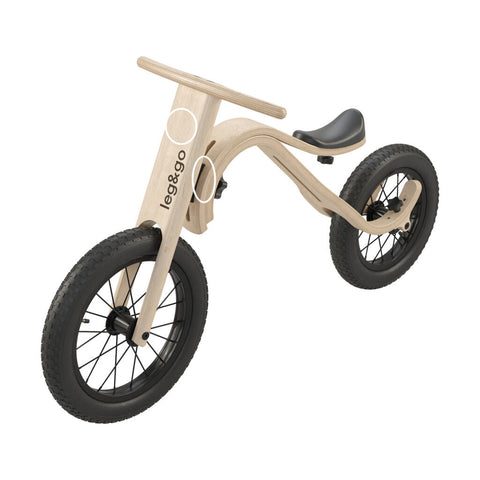Leg & Go Kid's Balance Bike Full Set Bundle | Birch Wood