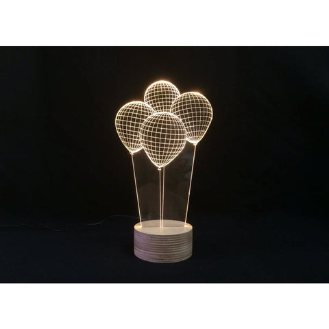 Studio Cheha Balloons LED Table Lamp | Iron/Birch Ch-Balloons
