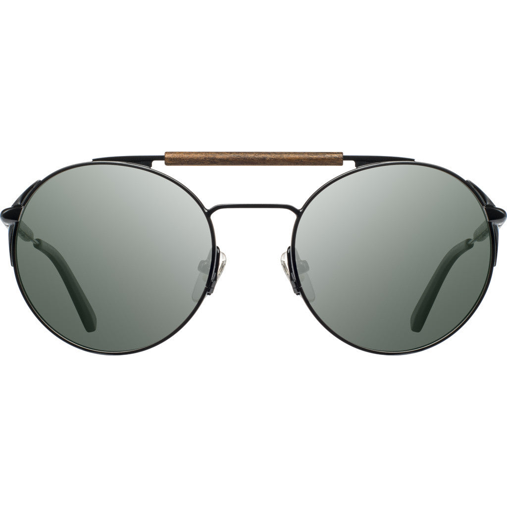Shwood Bandon Sunglasses | Black & Walnut / G15-WTB3BWF