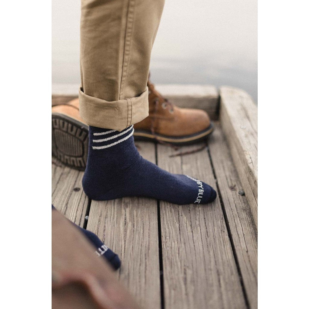 United By Blue Bartrams Socks | Navy Slant SML 00A-1BS-NV2