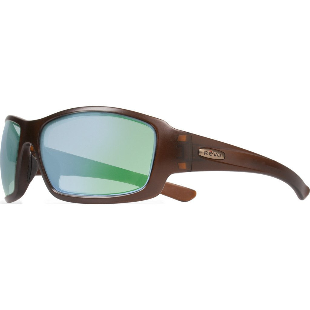 Revo Eyewear Bearing Matte Brown Sunglasses | Green Water RE 4057 02 GN