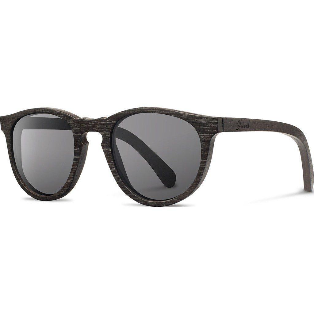 Shwood Belmont Original Sunglasses | Distressed Dark Walnut / Grey WOBDDWG
