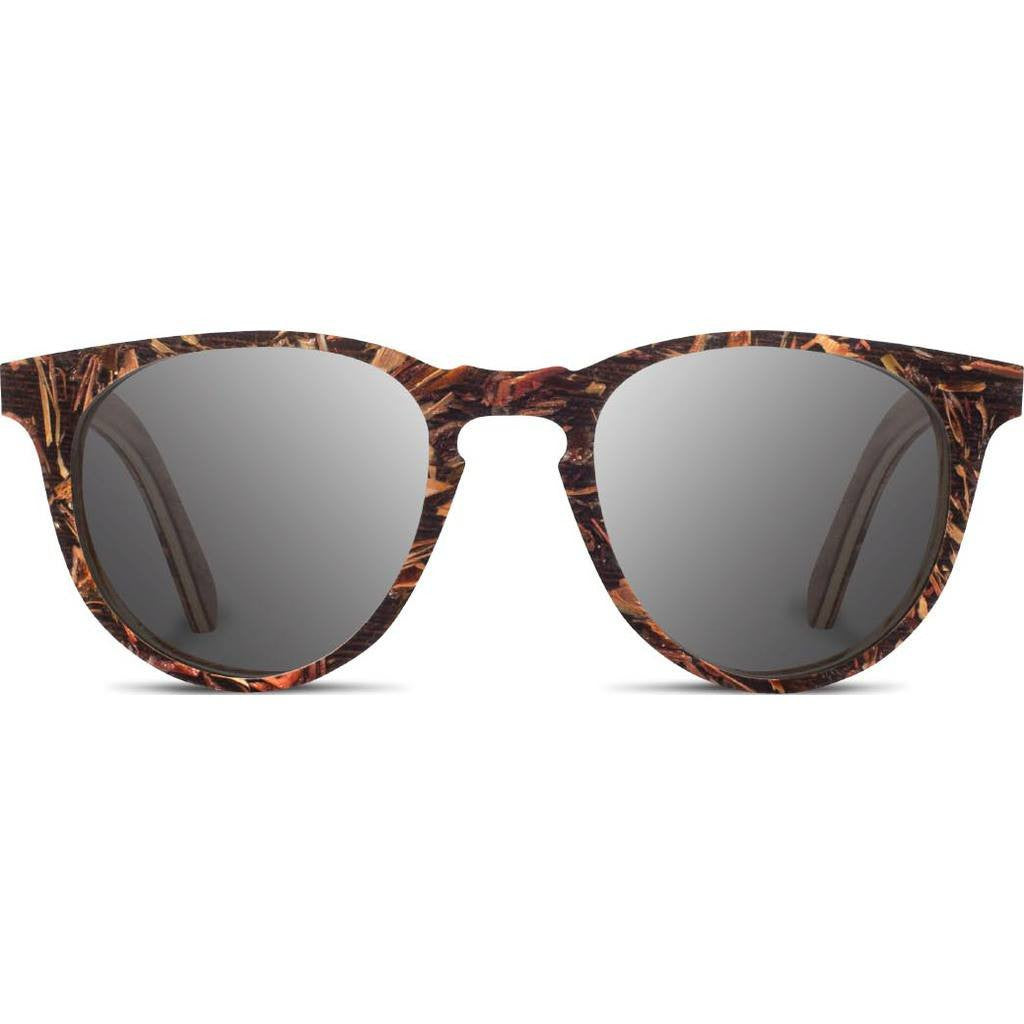 Shwood Belmont Original Sunglasses | Scarlet Flower / Grey Polarized WLBSFGP