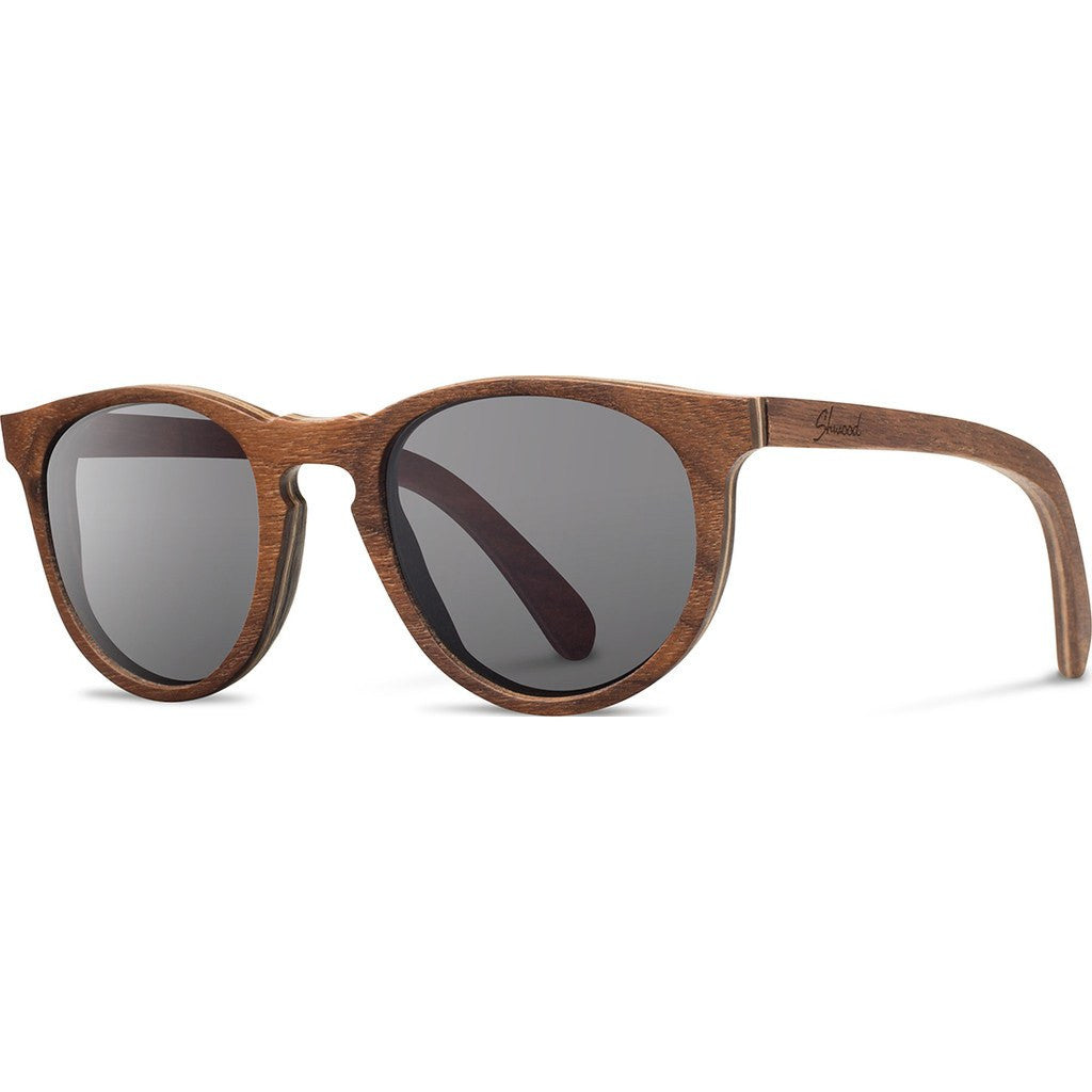 Shwood Belmont Original Sunglasses | Walnut / Grey WOBWG