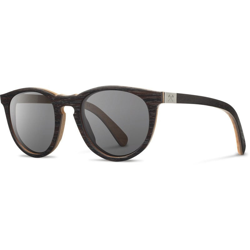 Shwood Belmont Select Sunglasses | Ebony & Quilted Maple / Grey Polarized