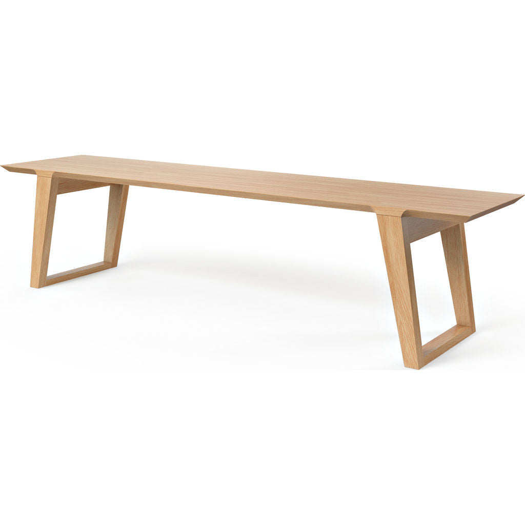Kalon Isometric Large Wood Bench | White Oak