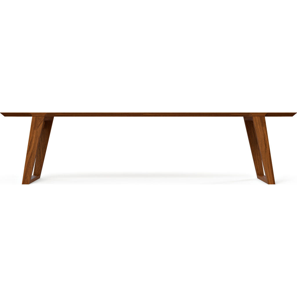 Kalon Isometric Large Wood Bench | Black Walnut