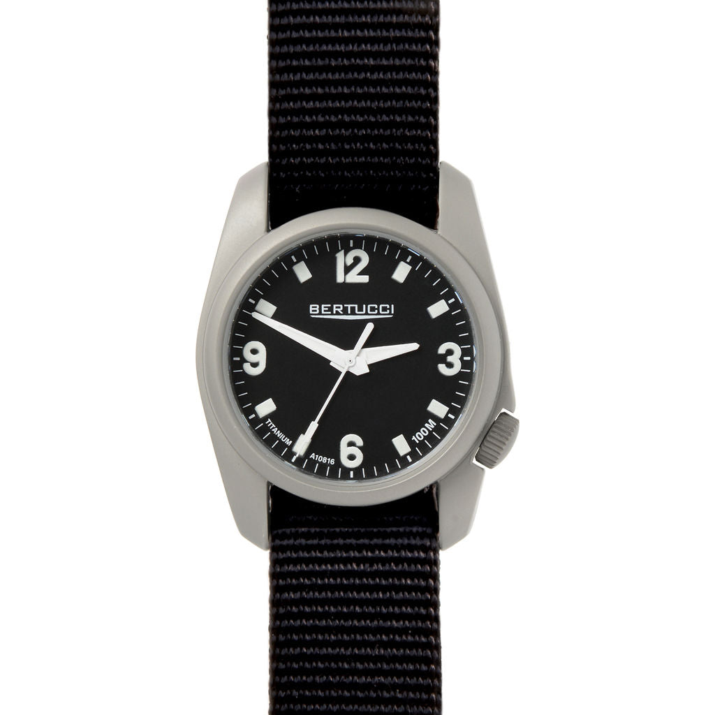 Bertucci A-1T Titanium Watch | Black/Black D-Type Nylon