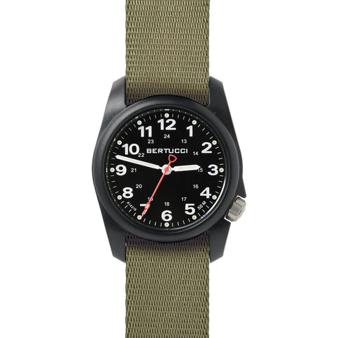 Bertucci A-1R Field Comfort Watch with Black Comfort Webb band