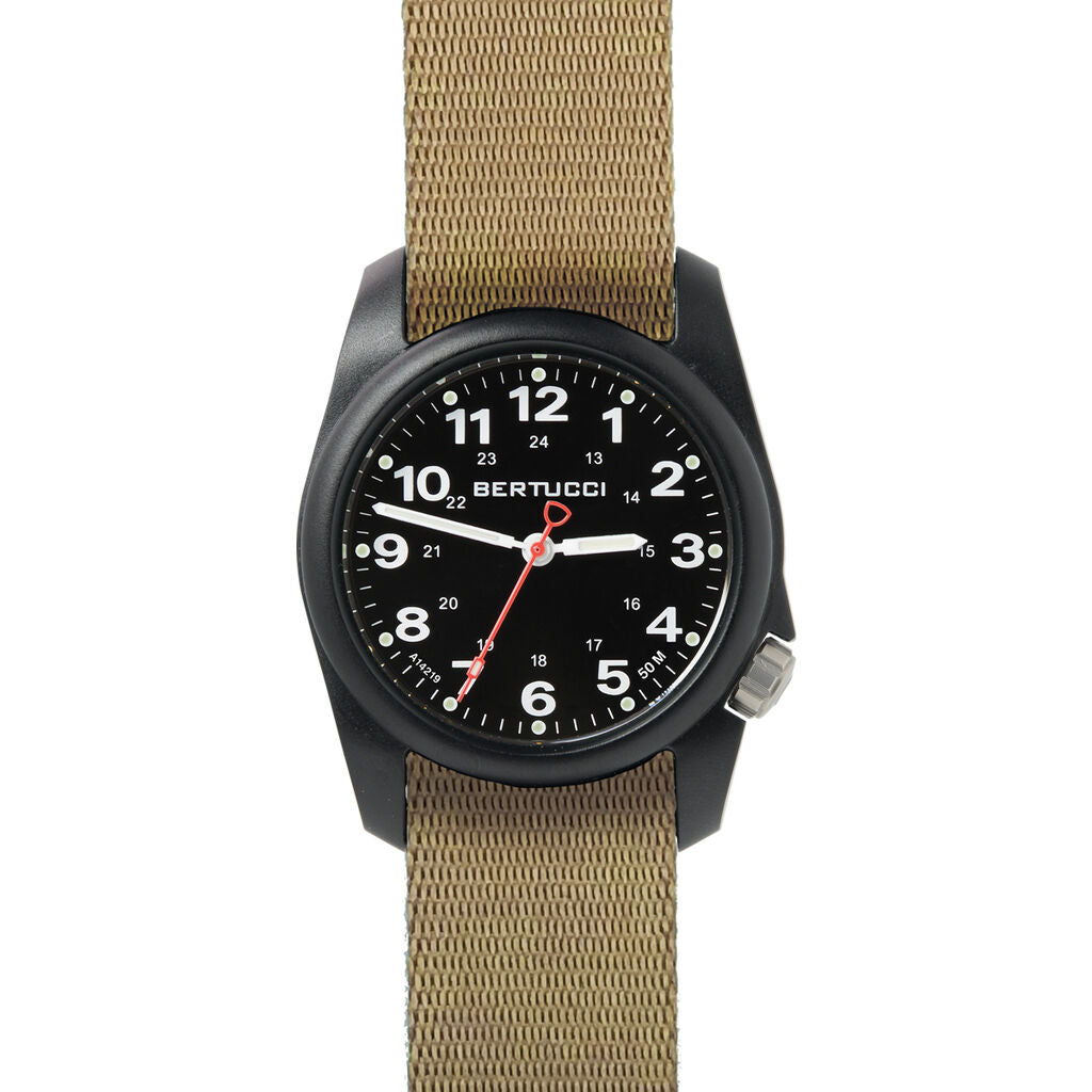 Bertucci A-1R Field Comfort Watch with Khaki Comfort Webb band