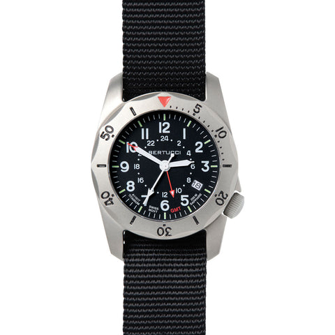 Bertucci A 2TR Vintage GMT Watch | Black 12117