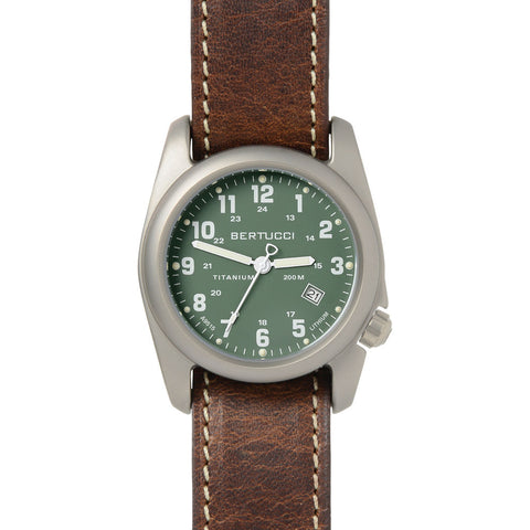 Bertucci A-2T Original Classic Lithium Drab Watch | Nut Brown Leather Band