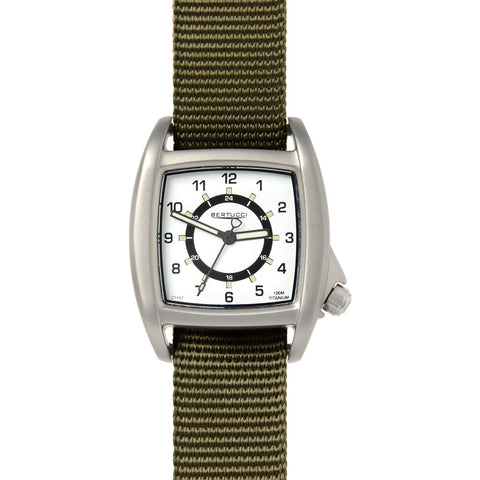 Bertucci C-1T Lusso Field Watch | White/Patrol Olive Nylon