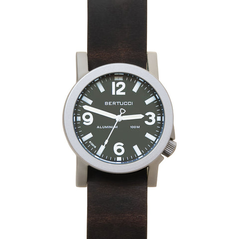 Bertucci A-6A Experior Field Watch | Marine Green/Brown Leather 16503